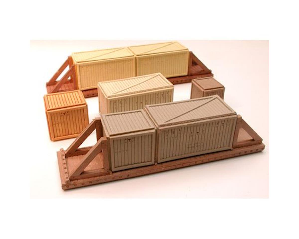 Chooch HO/O Medium Wood Sheathed Crate Load (4)