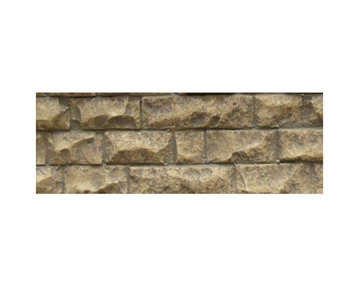 "Chooch HO/O Flexible Medium Cut Stone Wall, 3.4""x13.25"""