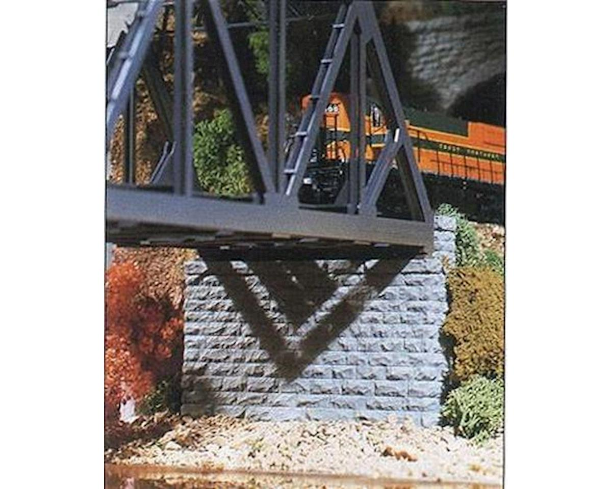 HO Double Cut Stone Bridge Abutment by Chooch