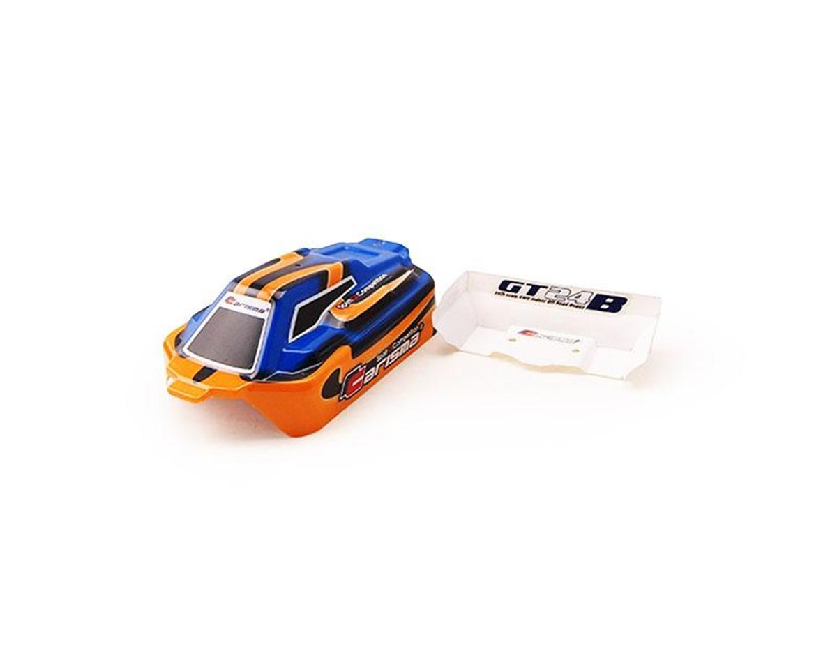 Carisma GT24B Painted and Decorated Buggy Body: Orange / Blue
