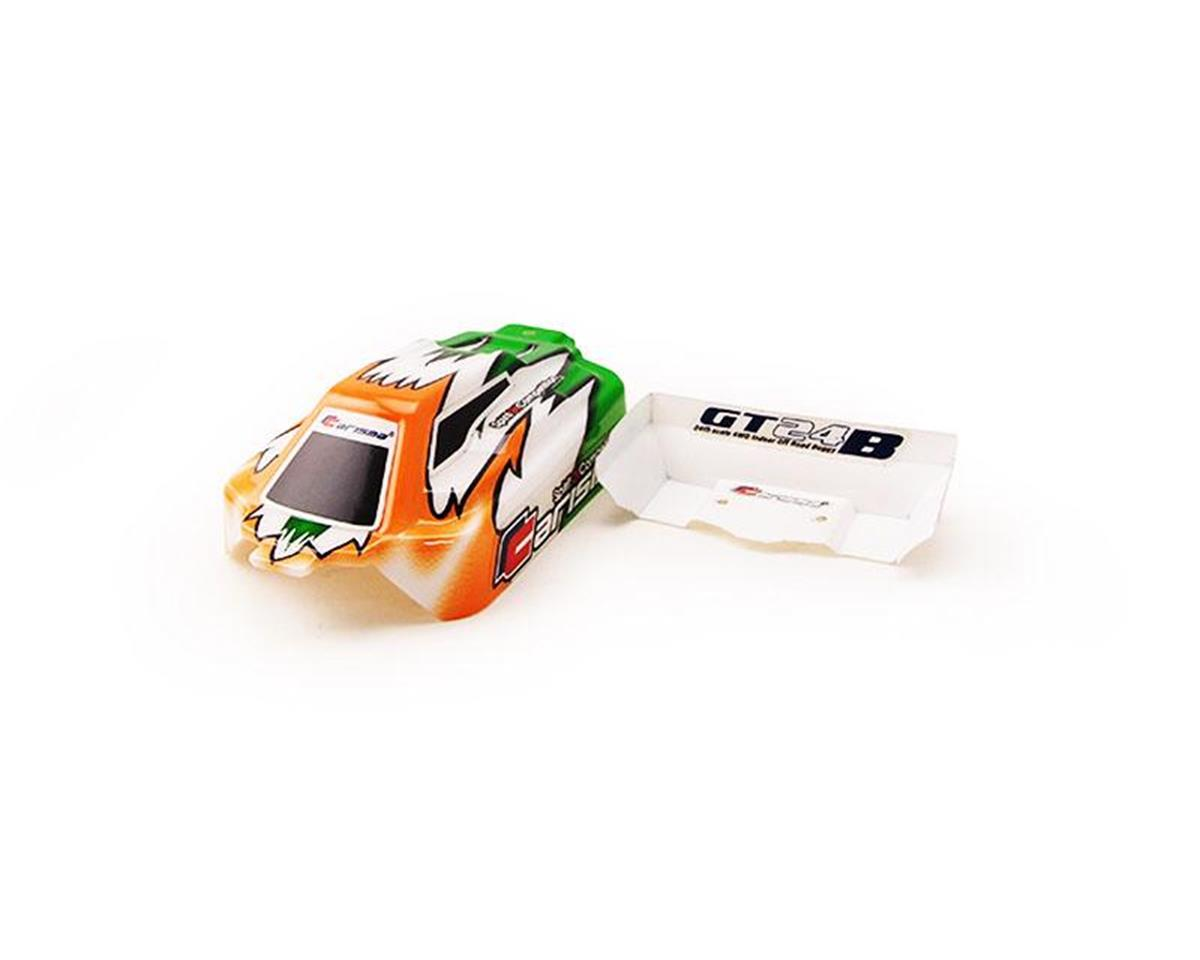 Carisma GT24B Painted and Decorated Buggy Body; Orange / Green