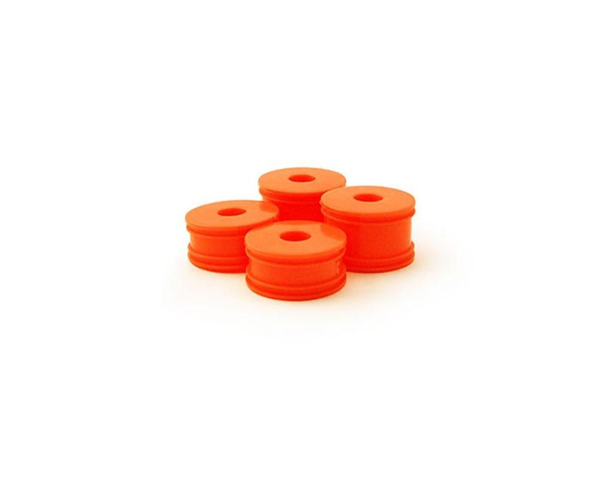 Carisma GT24B Wheel Set (4): Orange
