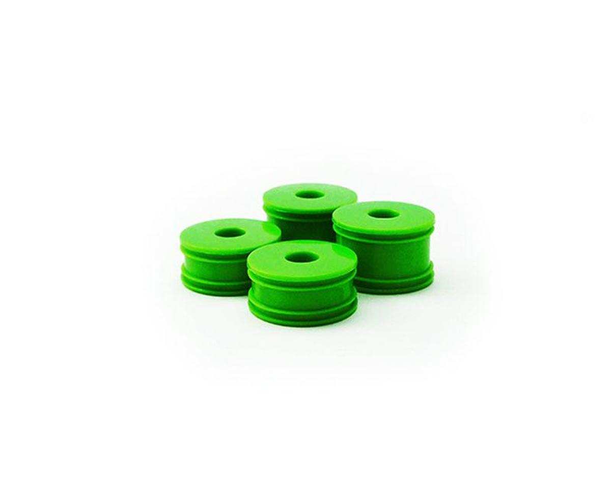 Carisma GT24B Wheel Set (4): Green