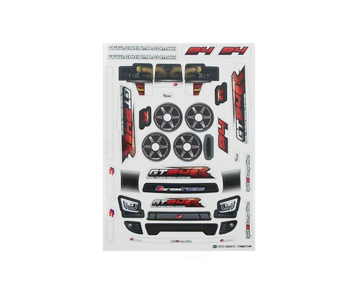 Carisma GT24R Sticker Sheet