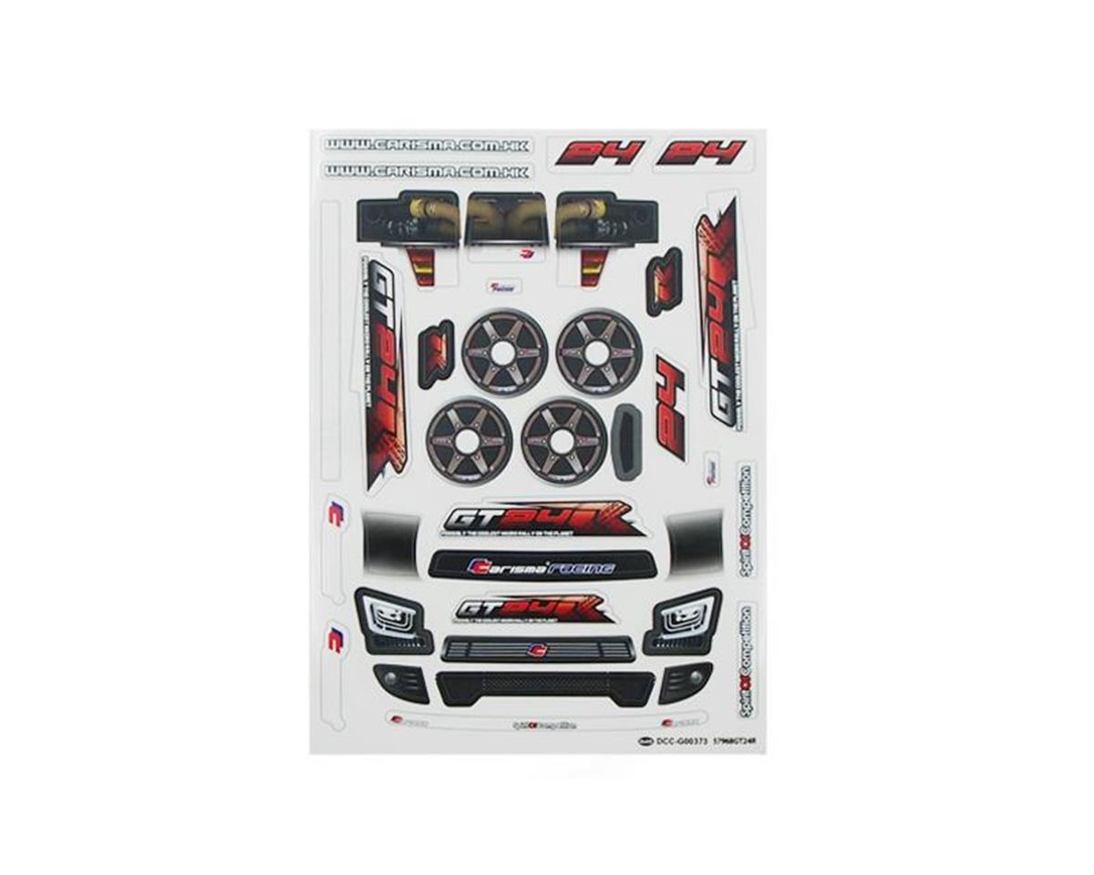 Carisma GT24R Sticker Sheet
