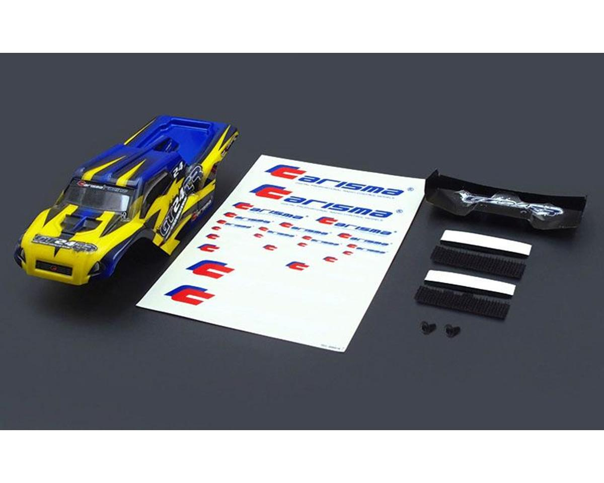 GT24TR Painted and Decorated Truggy Body (Yellow / Blue)