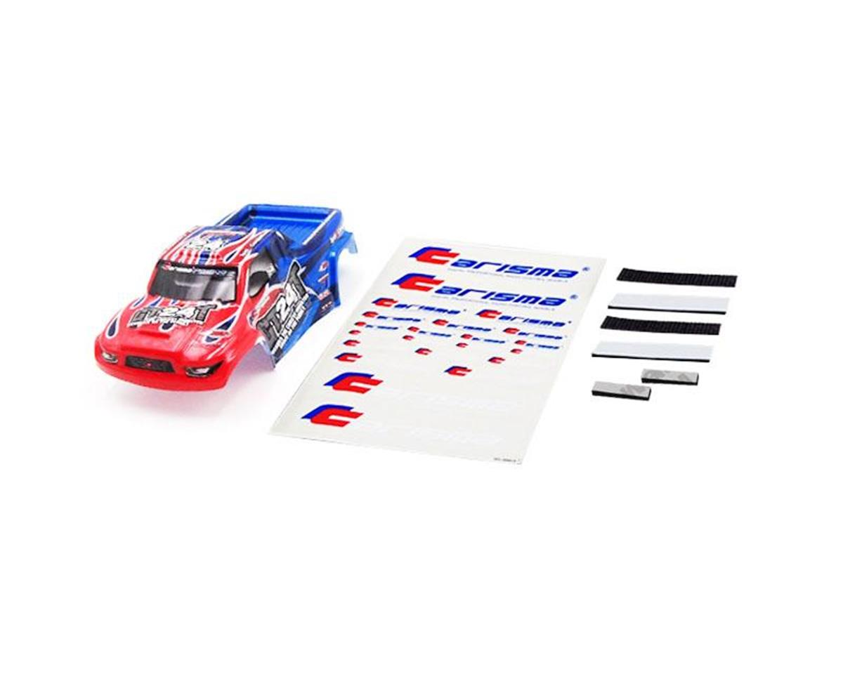 Carisma GT24MT Truck Body Painted and Decorated ( Red / Blue)