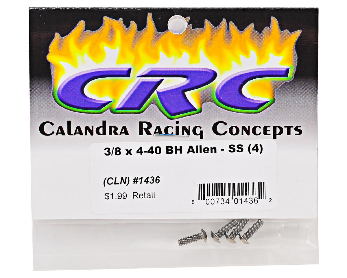 Calandra Racing Concepts 3/8x4/40 Stainless Steel Button Head Screw (4)