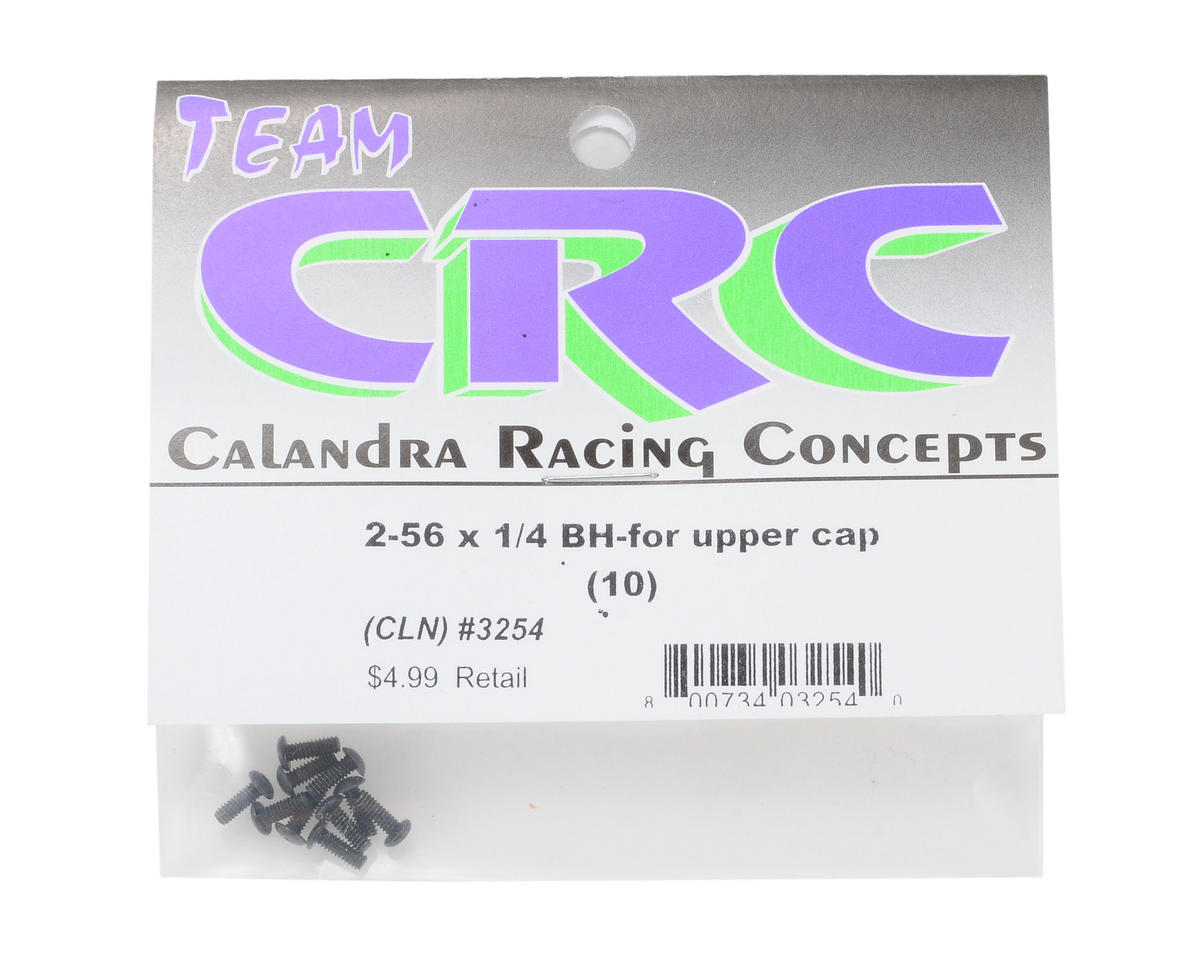 "Calandra Racing Concepts 2-56x1/4"" Button Head Hex Screw (10)"