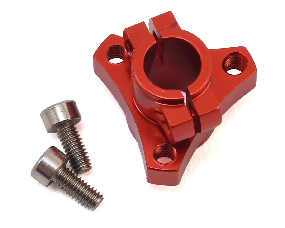 CRC CK25 1/12 Double Clamp Left Hub (Red)
