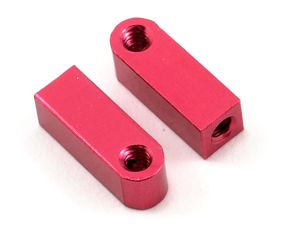 Calandra Racing Concepts Aluminum Vertical Shock Tower/Servo Mount Set (Red) (Serpent S100)