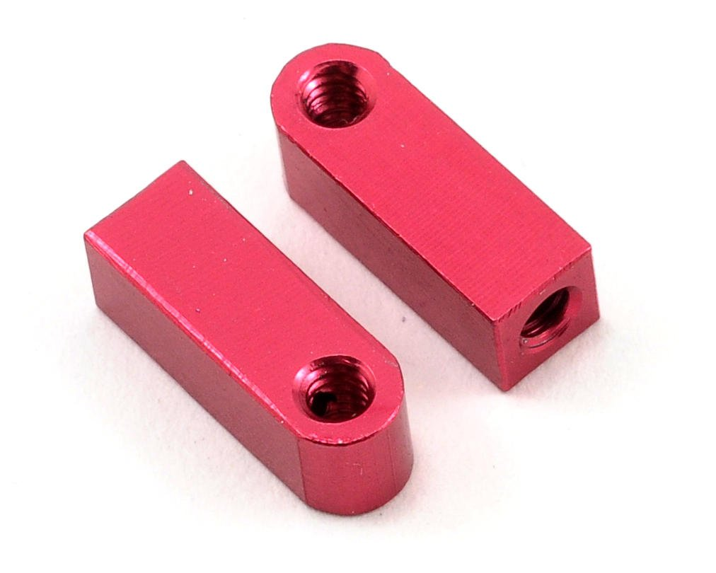Aluminum Vertical Shock Tower/Servo Mount Set (Red) by CRC
