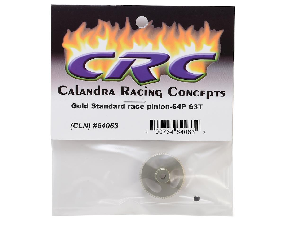 """Gold Standard"" 64P Aluminum Pinion Gear (63T) by CRC"