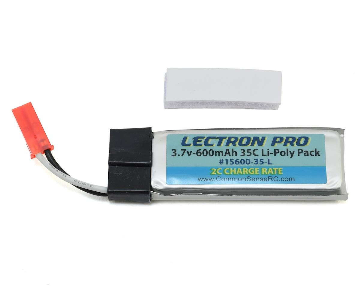 Common Sense RC Lectron Pro 1S LiPo 35C LiPo Battery w/JST (3.7V/600mAh)