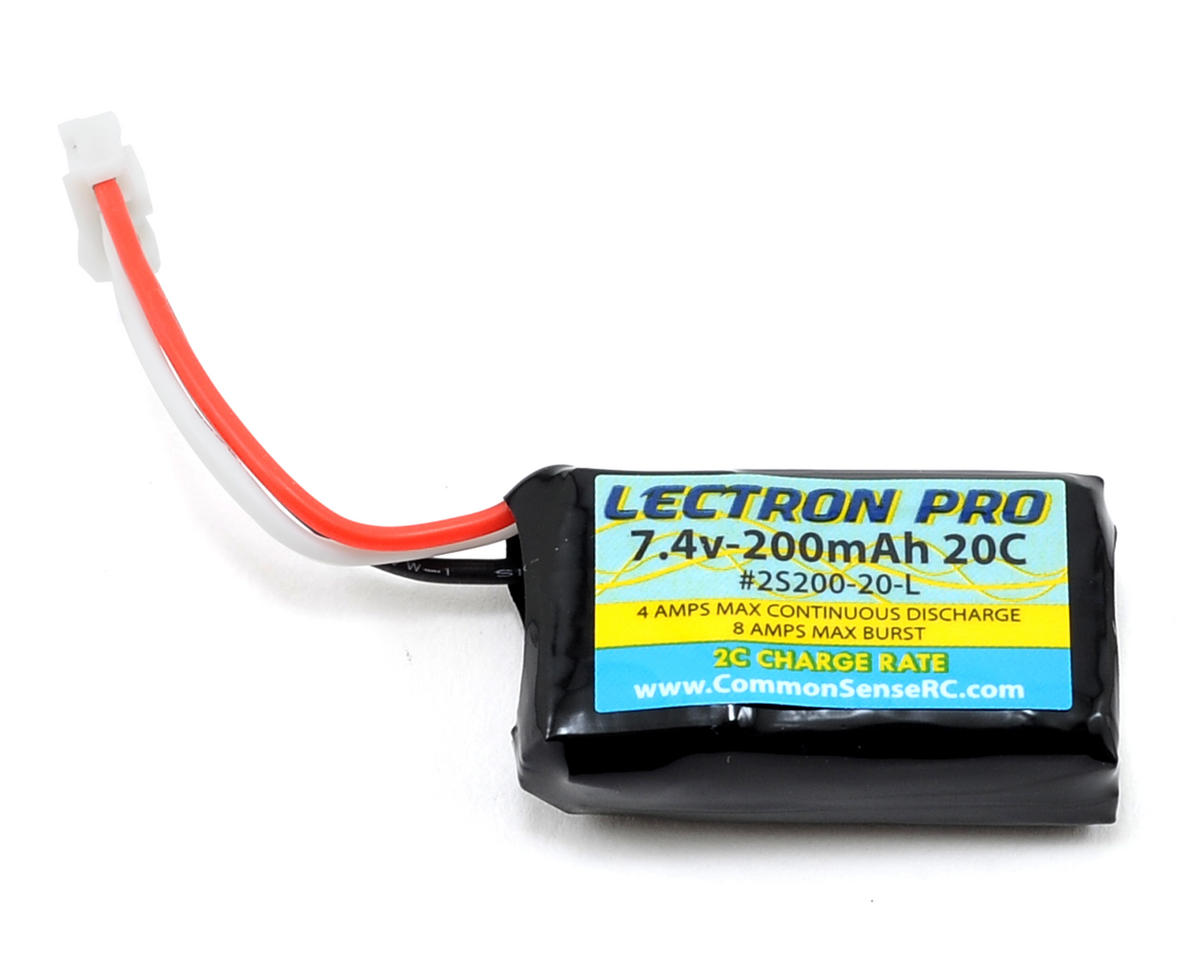 Common Sense RC Lectron Pro 2S Li-Poly Battery Pack 20C (7.4V/200mAh)