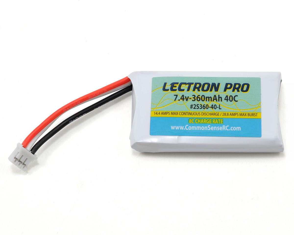 Common Sense RC Lectron Pro 2S Li-Poly Battery Pack 40C (7.4V/360mAh)