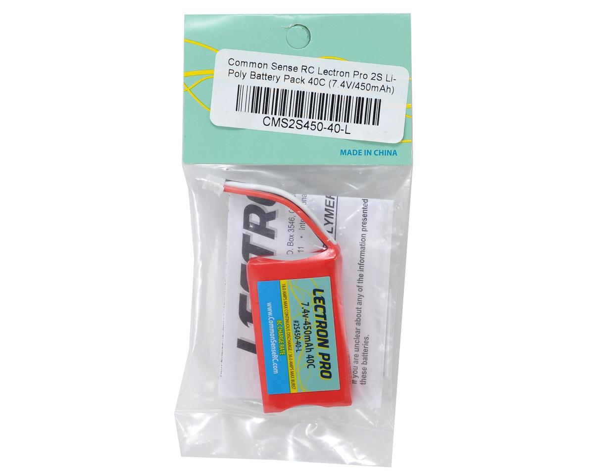 Common Sense RC Lectron Pro 2S Li-Poly Battery Pack 40C (7.4V/450mAh)