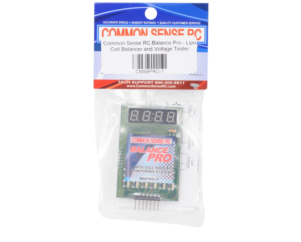 Common Sense RC Balance Pro - LiPo Cell Balancer and Voltage Tester