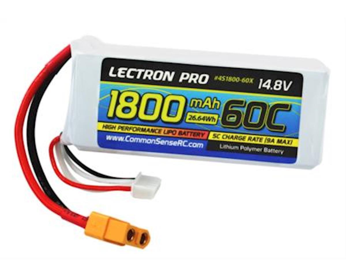 Lectron Pro 14.8V 1800mAh 60C Lipo Battery for FPV Racers