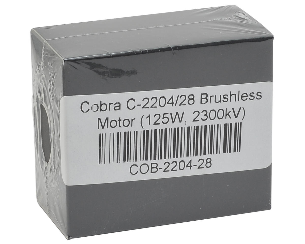 Cobra 2204-28 Brushless Motor (125W, 2300kV)