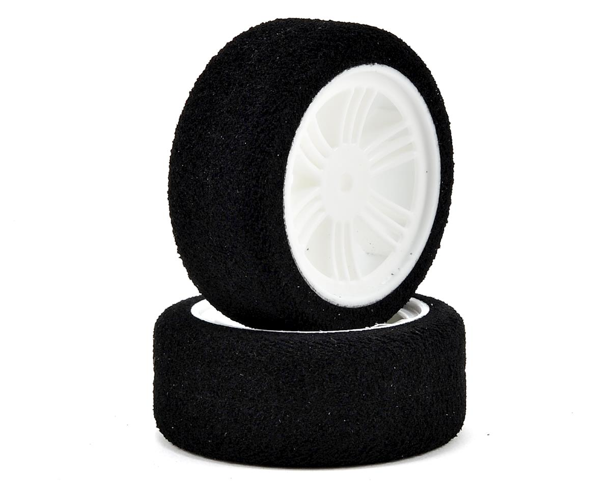 Contact 12mm Hex 26mm 1/10 Nitro Sedan Foam Front Tires (2) (White)