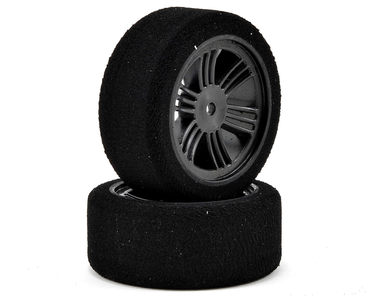 Contact 12mm Hex 26mm 1/10 Nitro Sedan Foam Front Tires (2) (Carbon Black) (32 Shore)