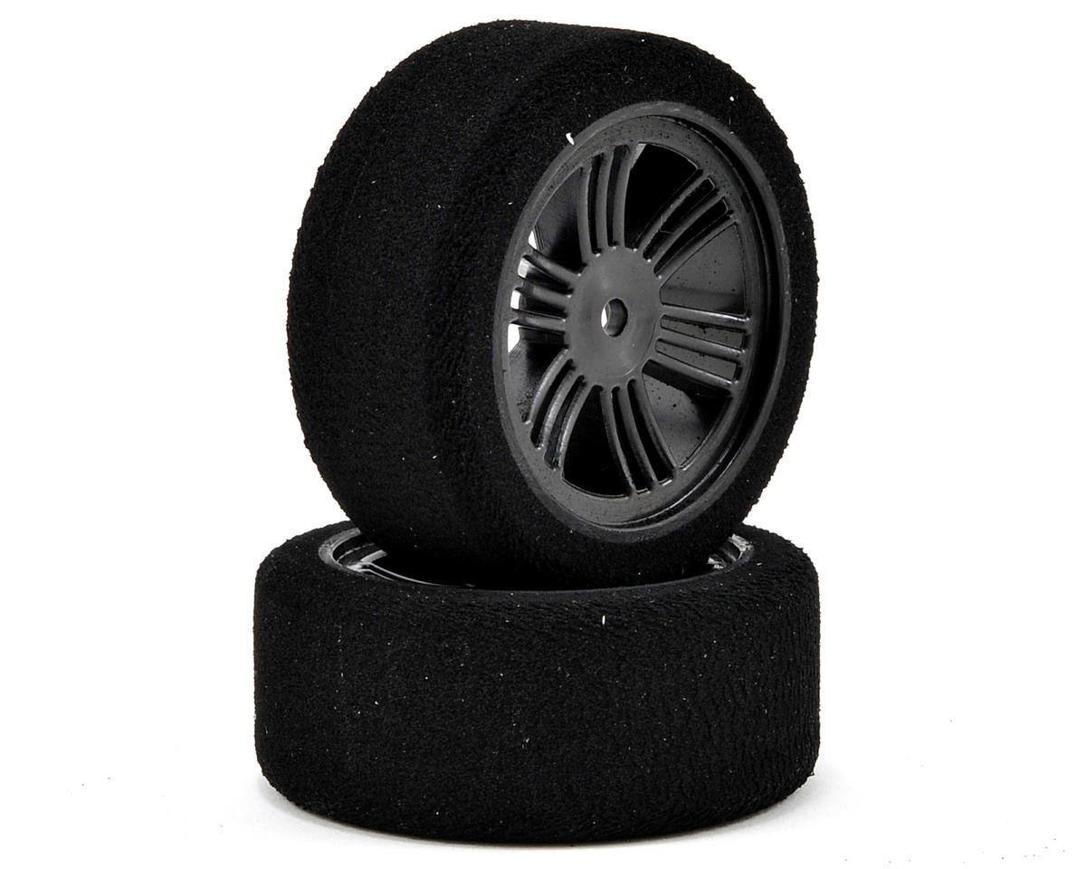 12mm Hex 26mm 1/10 Nitro Sedan Foam Front Tires (2) (Carbon Black) (32 Shore) by Contact
