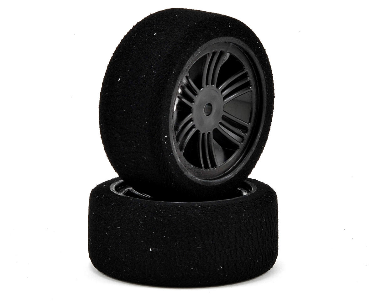Contact 12mm Hex 26mm 1/10 Nitro Sedan Foam Front Tires (2) (Carbon Black) (35 Shore)