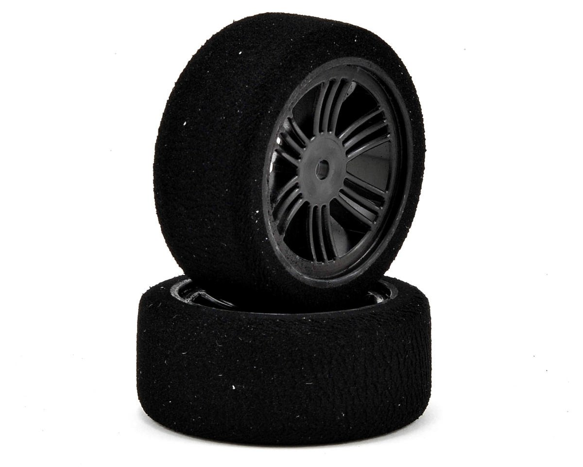 Contact RC 12mm Hex 26mm 1/10 Nitro Sedan Foam Front Tires (2) (Carbon Black) (35 Shore)