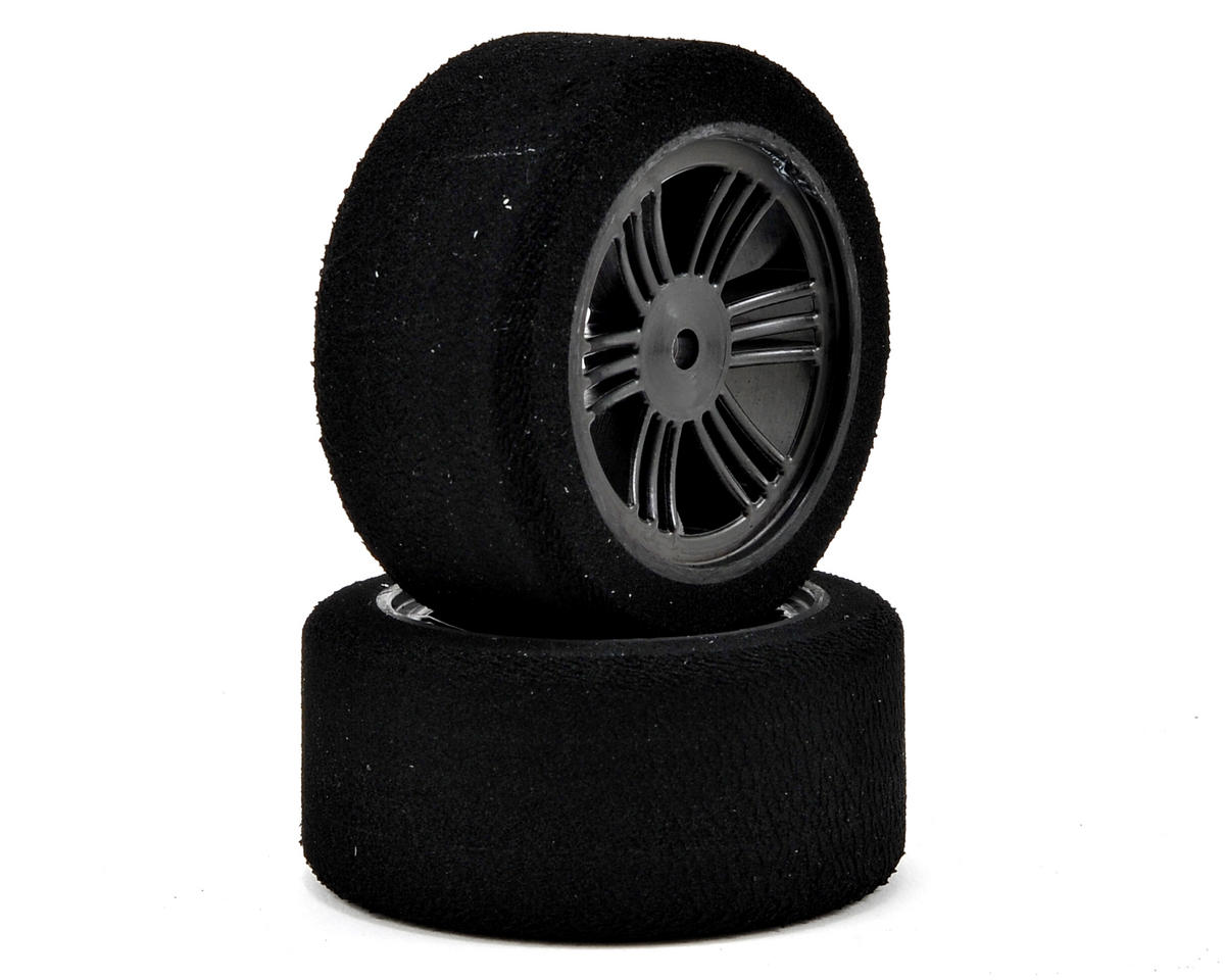 Contact 12mm Hex 30mm 1/10 Nitro Sedan Foam Rear Tires (2) (Carbon Black)