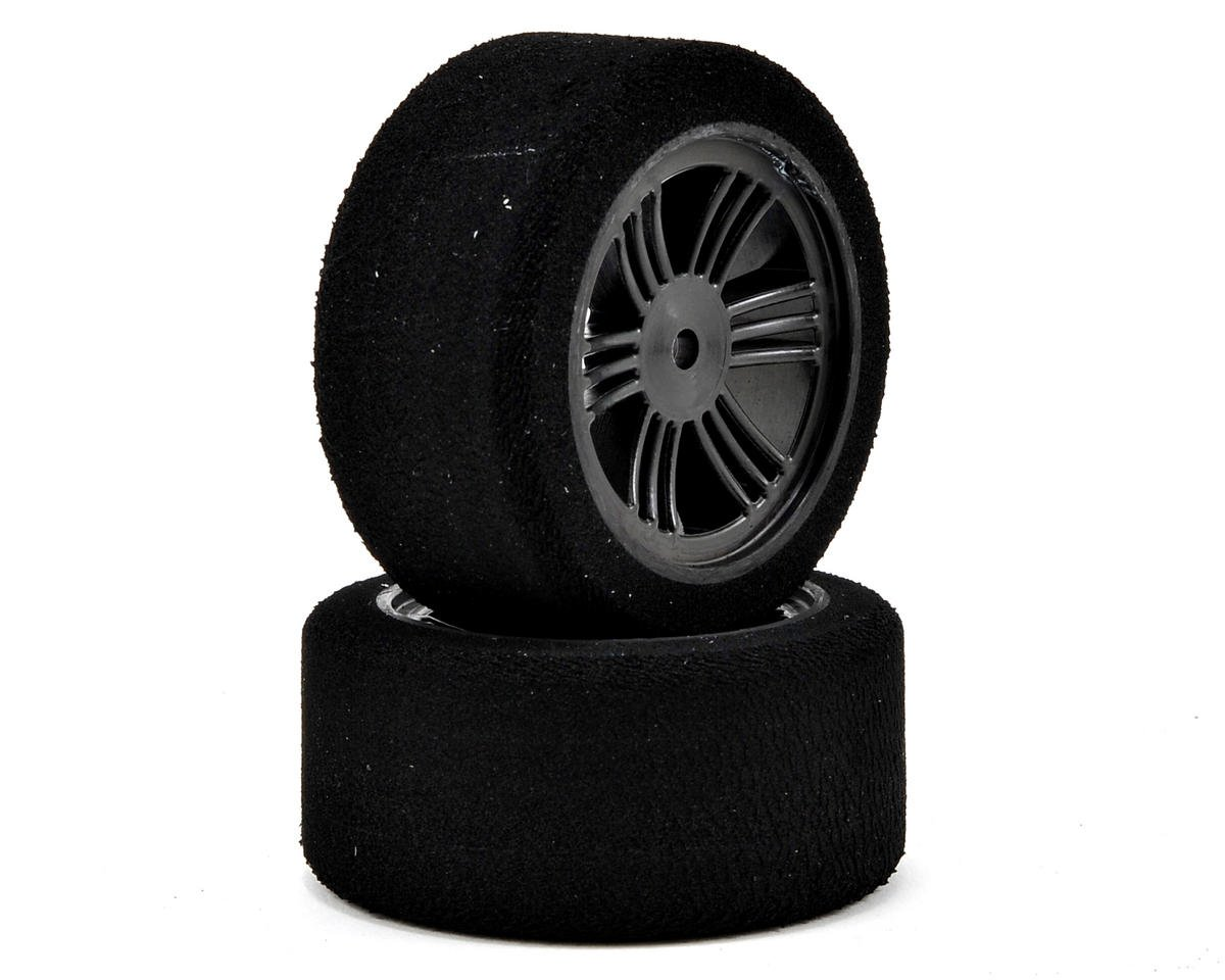 12mm Hex 30mm 1/10 Nitro Sedan Foam Rear Tires (2) (Carbon Black) (35 Shore) by Contact