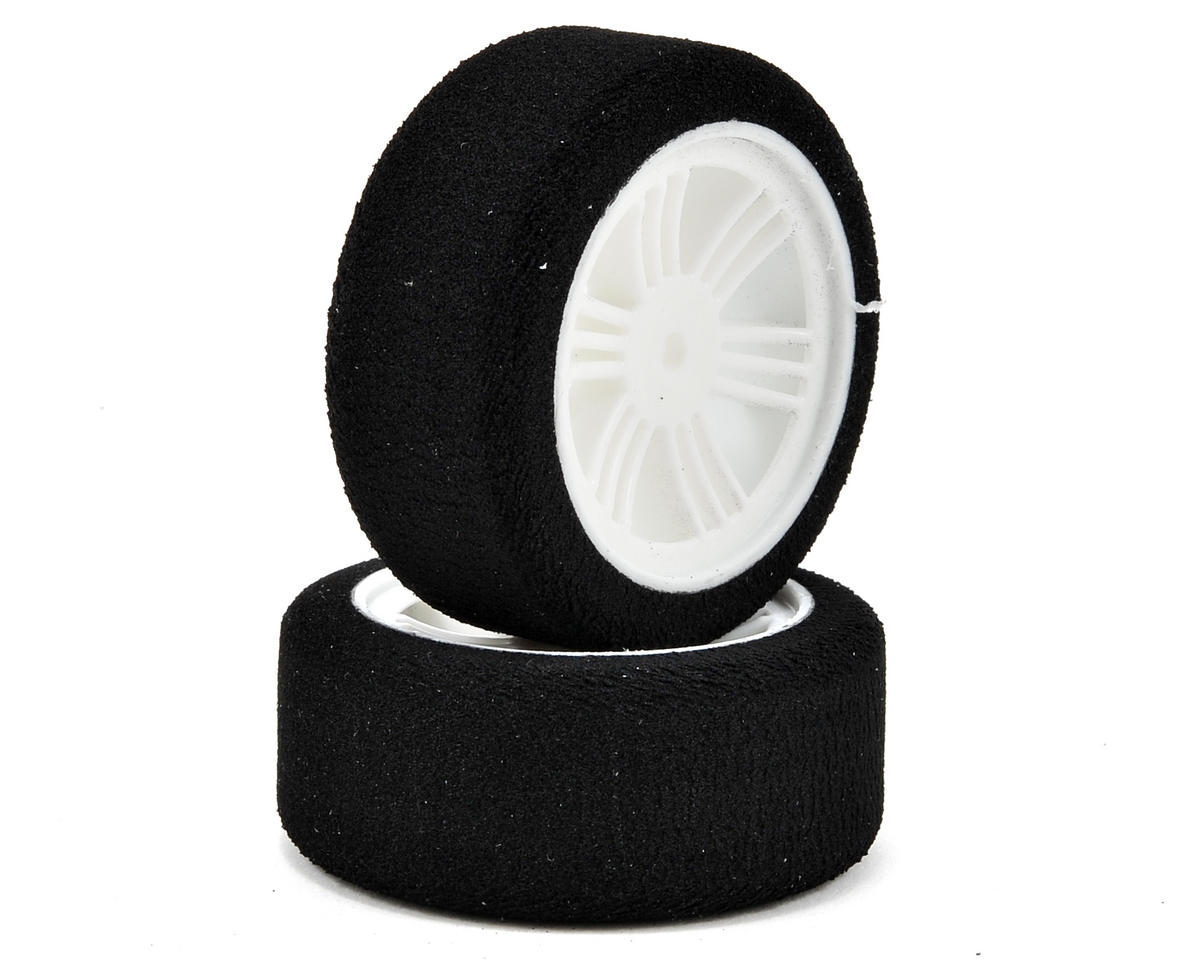 12mm Hex 26mm 1/10 Nitro Sedan Foam Front Tires (2) (White) (37 Shore) by Contact RC