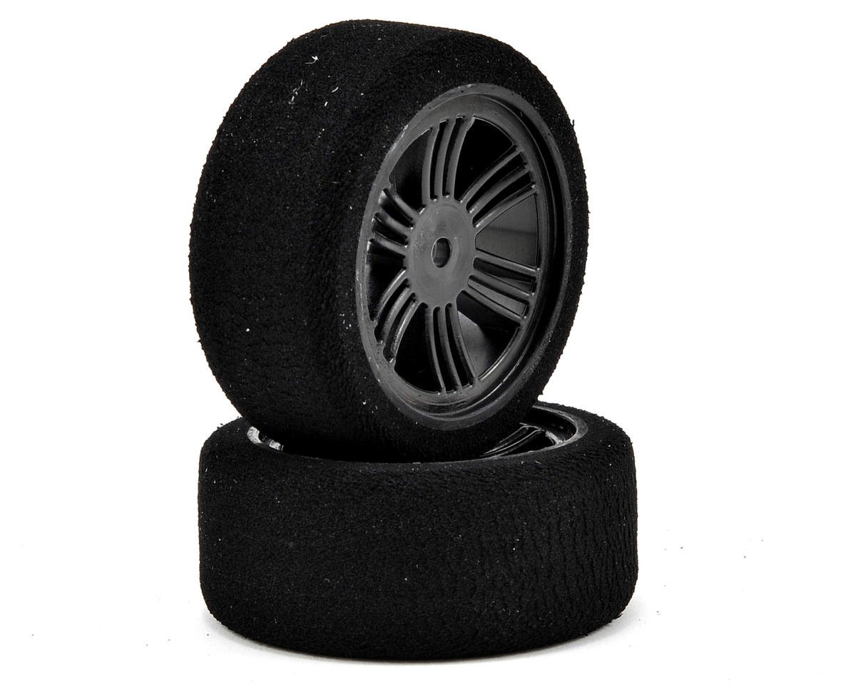 Contact RC 12mm Hex 26mm 1/10 Nitro Sedan Foam Front Tires (2) (Carbon Black) (37 Shore)