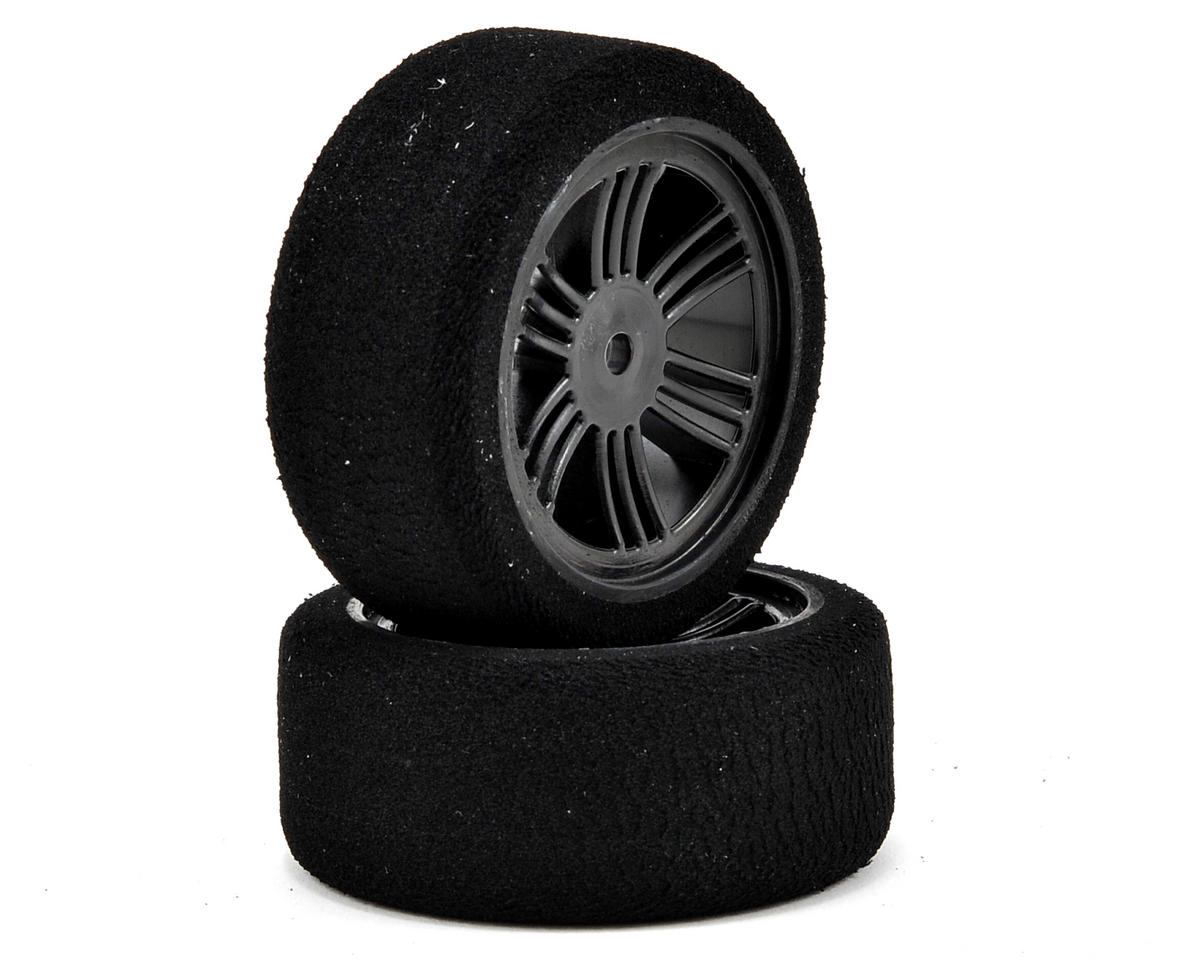 Contact 12mm Hex 26mm 1/10 Nitro Sedan Foam Front Tires (2) (Carbon Black) (37 Shore)