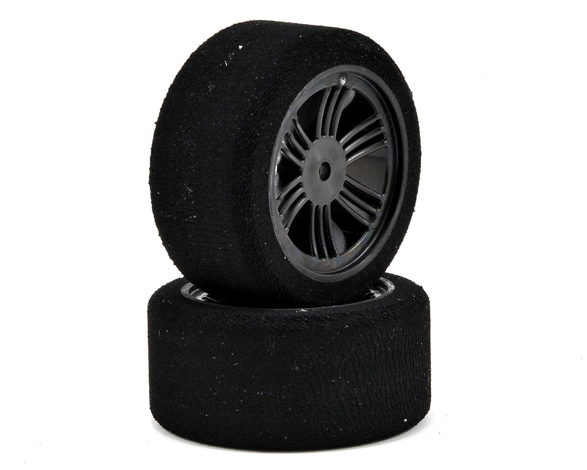Contact 12mm Hex 30mm 1/10 Nitro Sedan Foam Rear Tires (2) (Carbon Black) (37 Shore)
