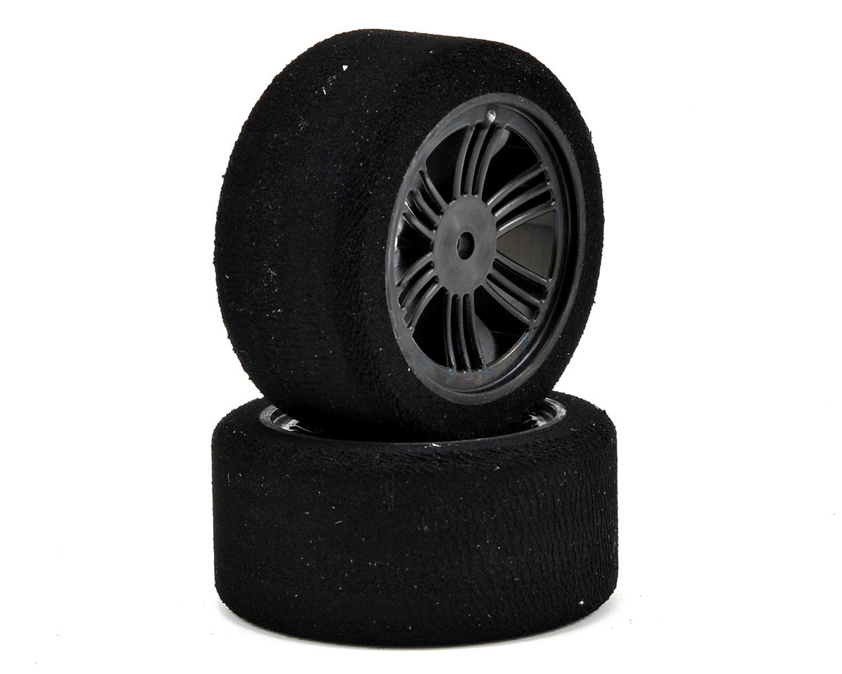 12mm Hex 30mm 1/10 Nitro Sedan Foam Rear Tires (2) (Carbon Black) (37 Shore) by Contact RC