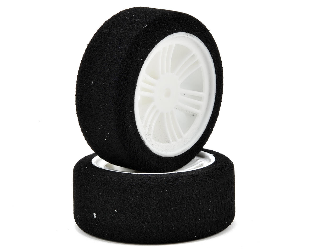 12mm Hex 26mm 1/10 Nitro Sedan Foam Front Tires (2) (White) (40 Shore) by Contact RC