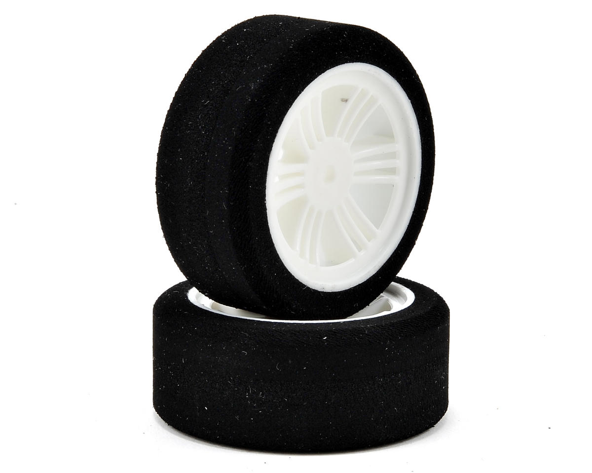 Contact 12mm Hex 1/10 Electric Sedan Dual Foam Front Tires (2) (White) (40/45 Shore)