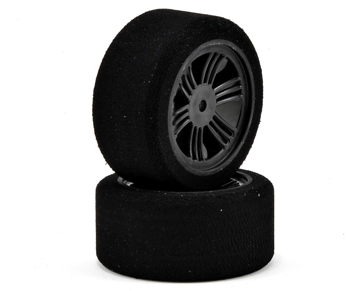 Contact 12mm Hex 30mm 1/10 Nitro Sedan Foam Rear Tires (2) (Carbon Black) (40 Shore)
