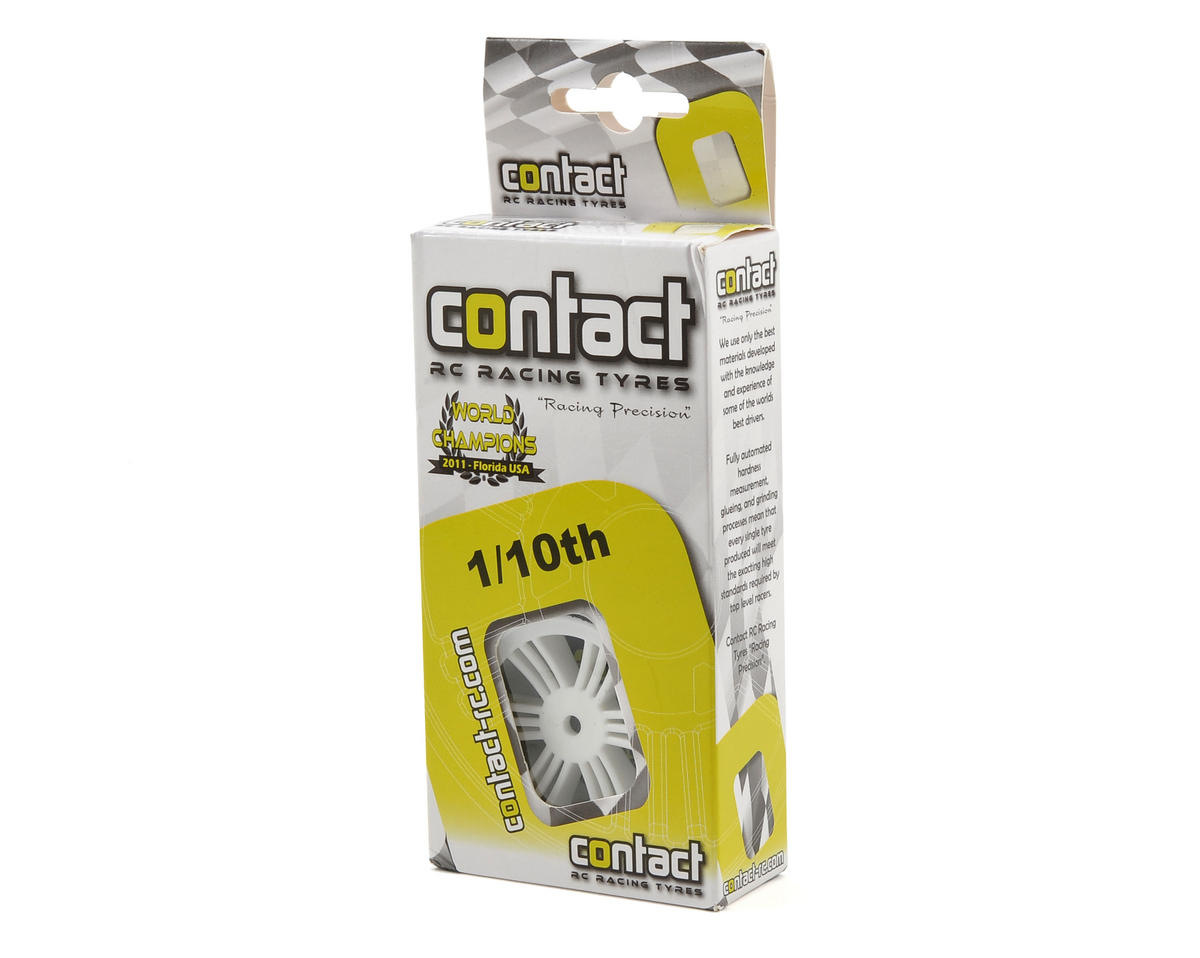 Contact RC 12mm Hex 30mm 1/10 Nitro Sedan Foam Rear Tires (2) (White) (42 Shore)
