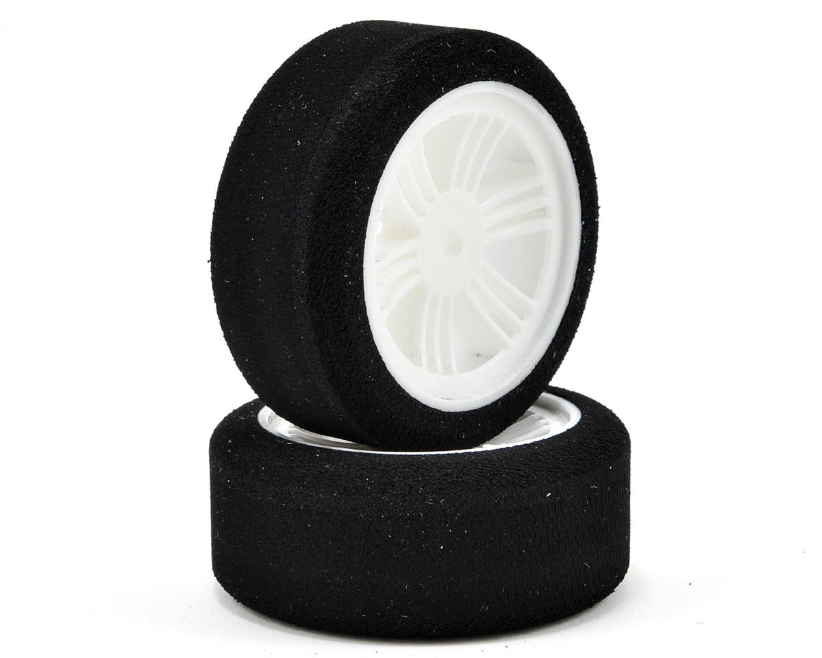 Contact RC 12mm Hex 1/10 Electric Sedan Dual Foam Front Tires (2) (White) (42/45 Shore)
