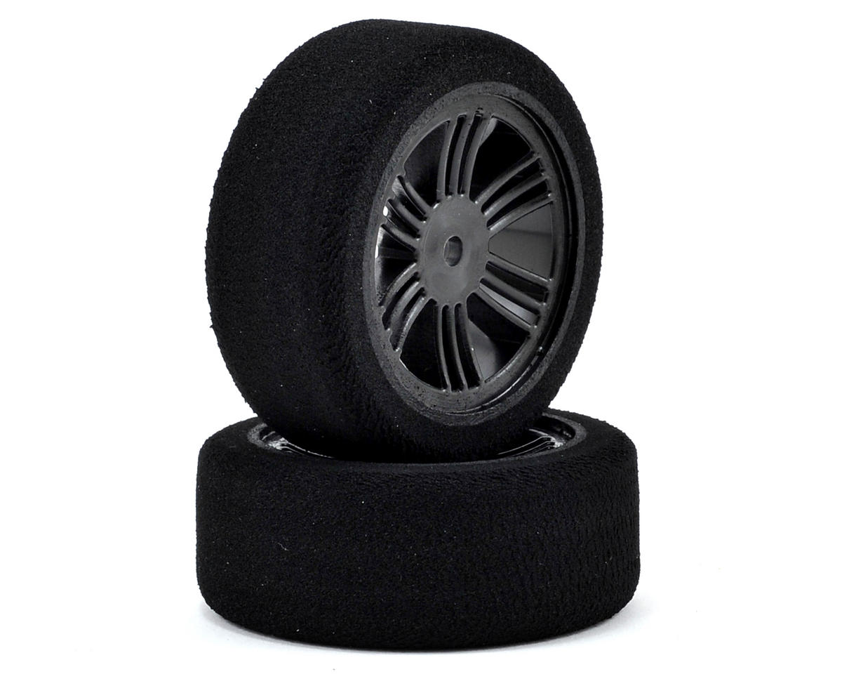 Contact 12mm Hex 26mm 1/10 Nitro Sedan Foam Front Tires (2) (Carbon Black) (42 Shore)