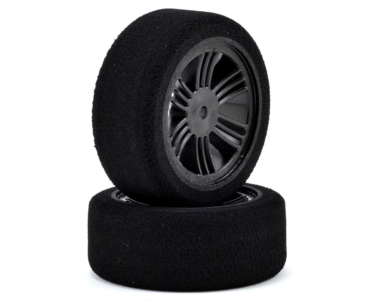 Contact RC 12mm Hex 26mm 1/10 Nitro Sedan Foam Front Tires (2) (Carbon Black) (42 Shore)