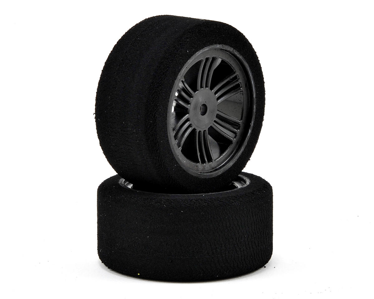 Contact 12mm Hex 30mm 1/10 Nitro Sedan Foam Rear Tires (2) (Carbon Black) (42 Shore)