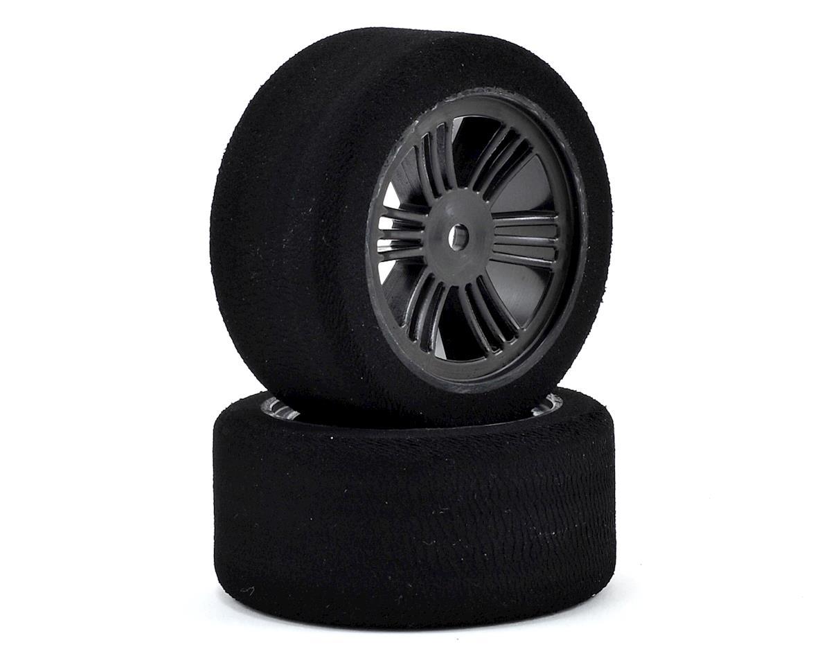 Contact RC 12mm Hex 30mm 1/10 Nitro Sedan Foam Rear Tires (2) (Carbon Black) (45 Shore)