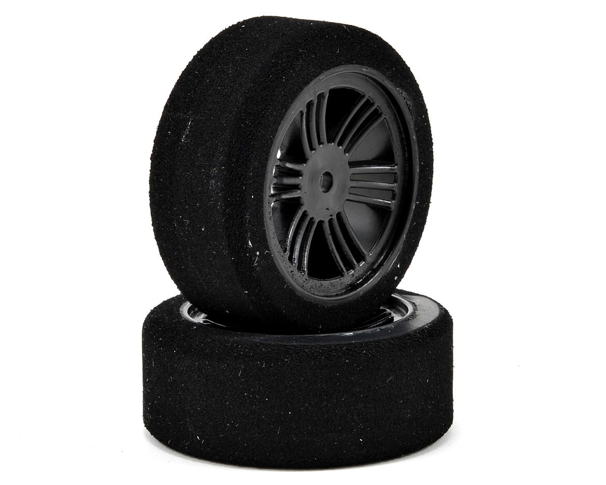 Contact 12mm Hex 1/10 Electric Sedan Dual Foam Tires (2) (Carbon Black) (Soft)