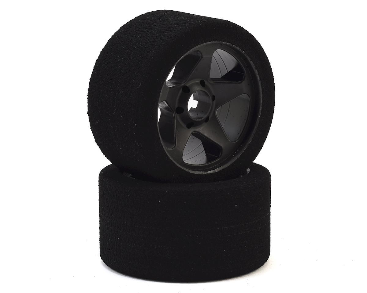Contact 1/8 Nitro Foam Front Tires w/5 Spoke Rim (2) (Black) (32 Shore)