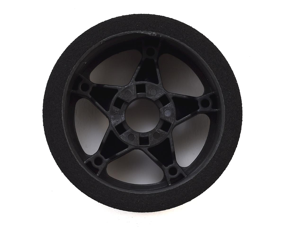 Contact 1/8 Nitro 66mm Foam Front Tires w/5 Spoke Rim (2) (Black) (45 Shore)