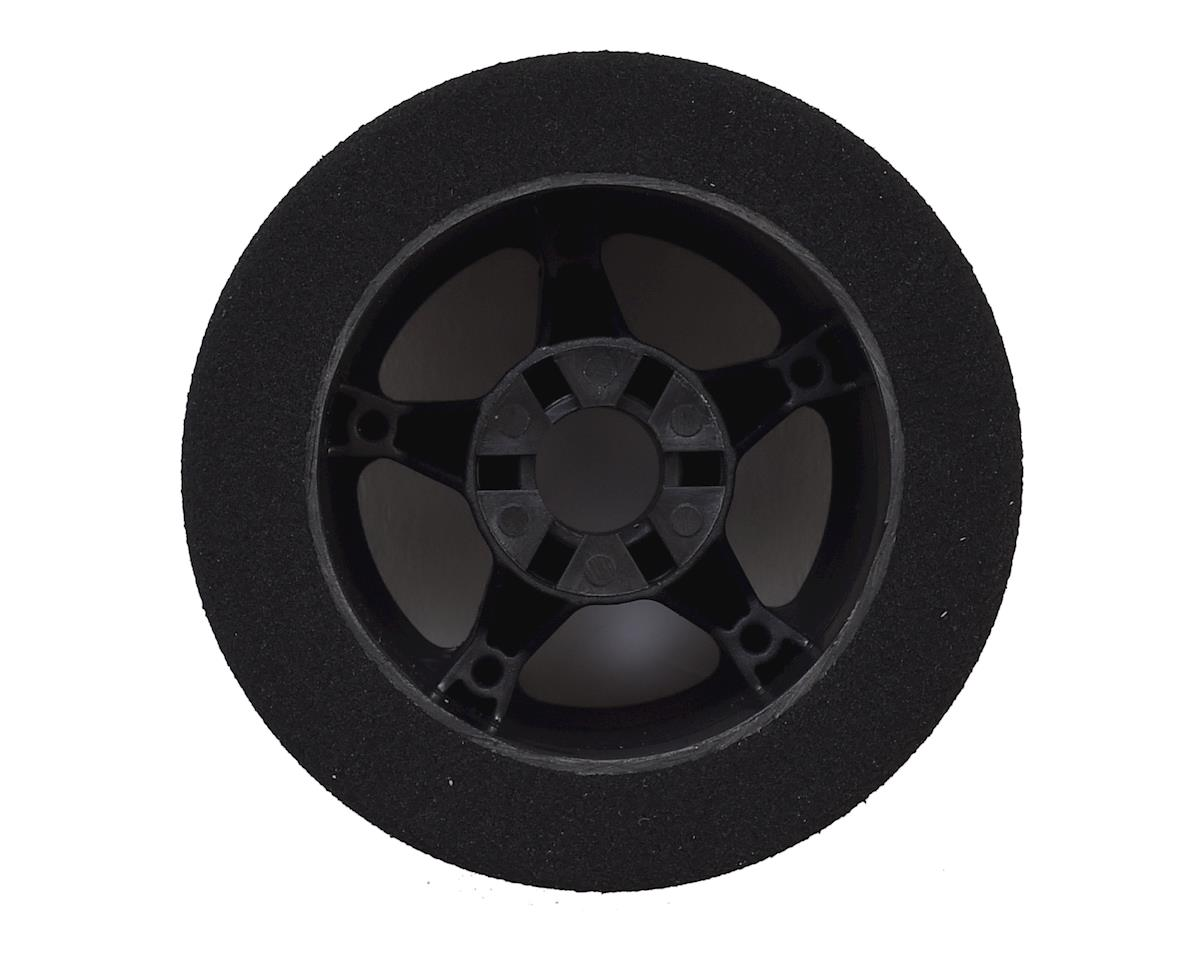 Contact 1/8 Nitro 76mm Foam Rear Tires w/5 Spoke Rim (2) (Black) (35 Shore)