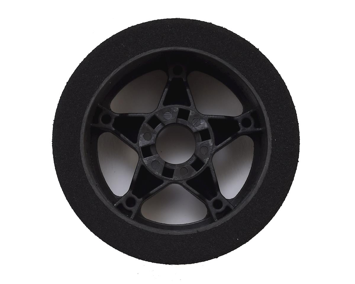 Contact 1/8 Nitro Foam Front Tires w/5 Spoke Rim (2) (Black) (Double Compound)